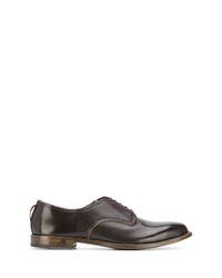 Chaussures derby en cuir marron foncé Dell'oglio