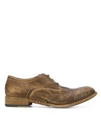 Chaussures derby en cuir marron Artselab