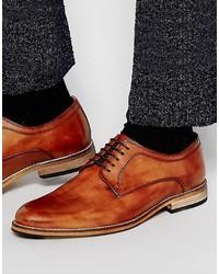 Chaussures derby en cuir marron Asos
