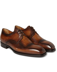 Chaussures derby en cuir marron Berluti