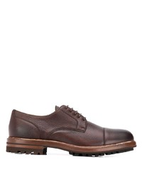 Chaussures derby en cuir marron Brunello Cucinelli