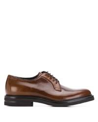 Chaussures derby en cuir marron Brunello Cucinelli