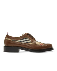 Chaussures derby en cuir marron Burberry