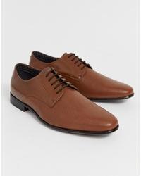 Chaussures derby en cuir marron Burton Menswear