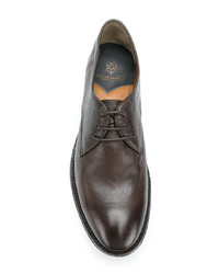 Chaussures derby en cuir marron Silvano Sassetti