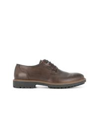 Chaussures derby en cuir marron Cerruti 1881