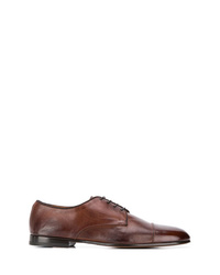 Chaussures derby en cuir marron Doucal's