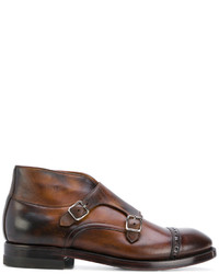 Chaussures derby en cuir marron Eleventy