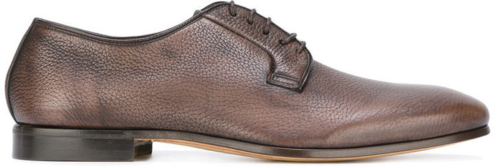 Chaussures derby en cuir marron Fabi
