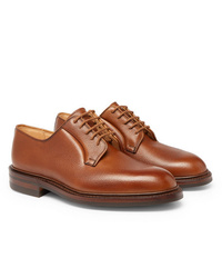 Chaussures derby en cuir marron George Cleverley