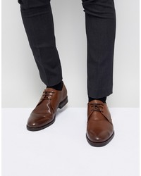 Chaussures derby en cuir marron Jack & Jones