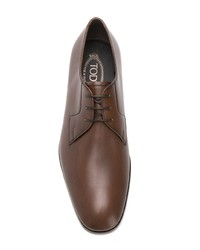 Chaussures derby en cuir marron Tod's