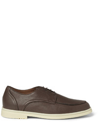 Chaussures derby en cuir marron Loro Piana
