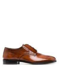 Chaussures derby en cuir marron Maison Margiela