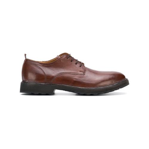 Chaussures derby en cuir marron Moma