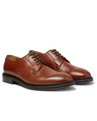 Chaussures derby en cuir marron Mr P.