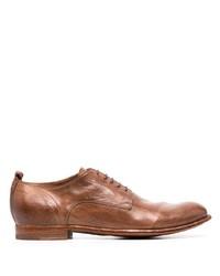 Chaussures derby en cuir marron Officine Creative