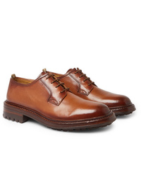 Chaussures derby en cuir marron Officine Creative