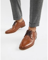 Chaussures derby en cuir marron Pier One