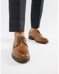 Chaussures derby en cuir marron Red Tape