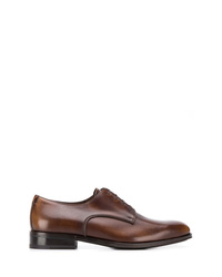 Chaussures derby en cuir marron Salvatore Ferragamo