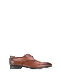 Chaussures derby en cuir marron Santoni