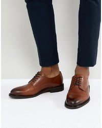 Chaussures derby en cuir marron Selected Homme