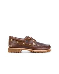 Chaussures derby en cuir marron Timberland