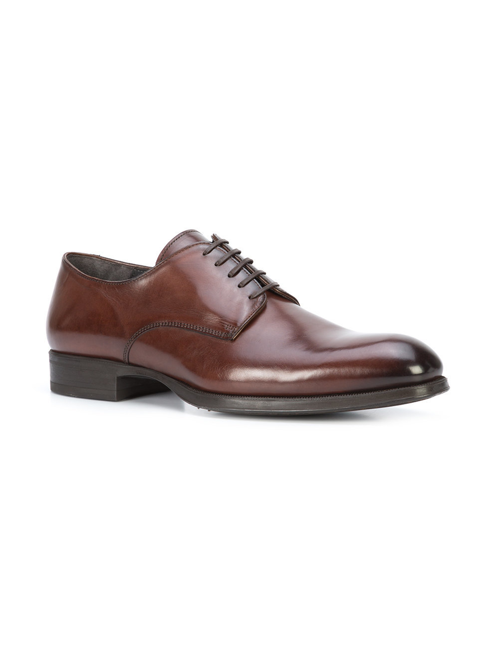 Chaussures derby en cuir marron To Boot New York