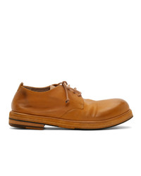 Chaussures derby en cuir moutarde