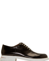 Chaussures derby en cuir noires et blanches Band Of Outsiders