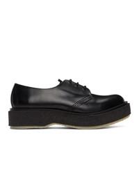 Chaussures derby en cuir noires Études