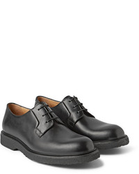 Chaussures derby en cuir noires A.P.C.