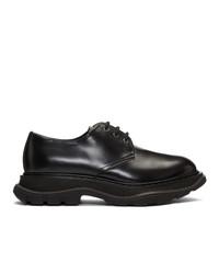 Chaussures derby en cuir noires Alexander McQueen