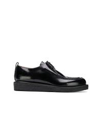 Chaussures derby en cuir noires AMI Alexandre Mattiussi