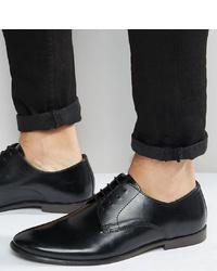 Chaussures derby en cuir noires ASOS DESIGN