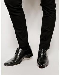 Chaussures derby en cuir noires Asos