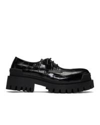 Chaussures derby en cuir noires Balenciaga