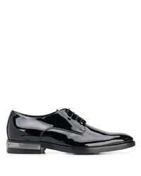 Chaussures derby en cuir noires Balmain