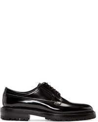 Chaussures derby en cuir noires Burberry