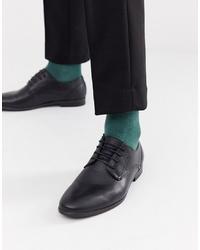 Chaussures derby en cuir noires Burton Menswear
