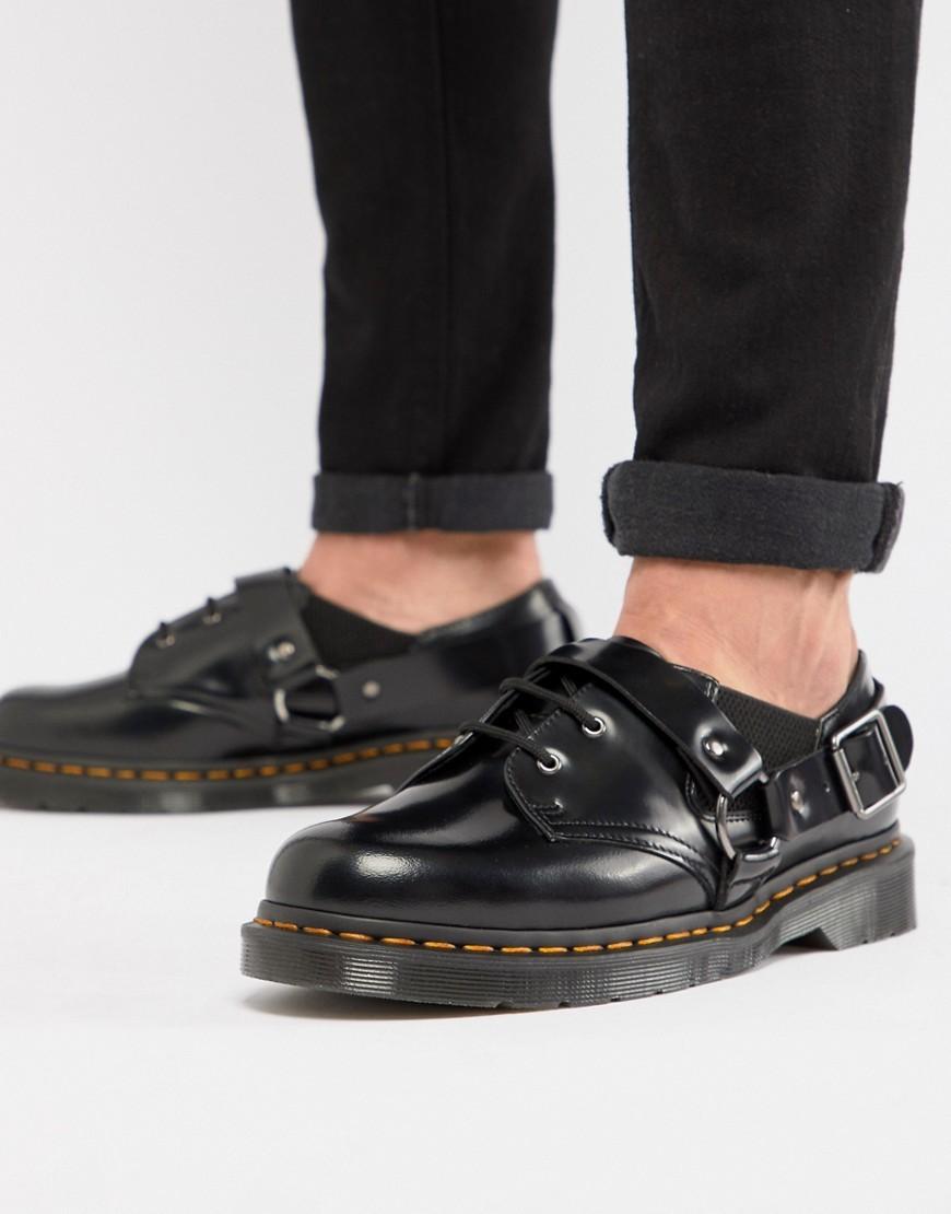 Chaussures derby en cuir noires Dr. Martens