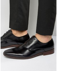 Chaussures derby en cuir noires Dune