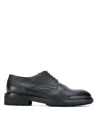 Chaussures derby en cuir noires Ermenegildo Zegna