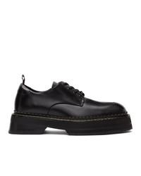 Chaussures derby en cuir noires Eytys