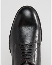 Chaussures derby en cuir noires Base London