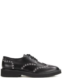 Chaussures derby en cuir noires Giuseppe Zanotti Design