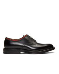 Chaussures derby en cuir noires Gucci