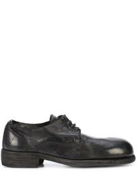 Chaussures derby en cuir noires Guidi