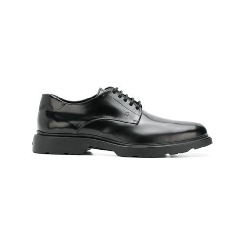 Chaussures derby en cuir noires Hogan